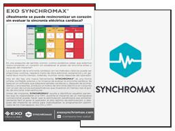 Folleto EXO Synchromax, ¿Realmente se puede resincronizar un corazón sin evaluar la sincronía eléctrica cardíaca?