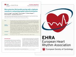 Miniatura do artigo da Associação Europeia Heart Rhytthm