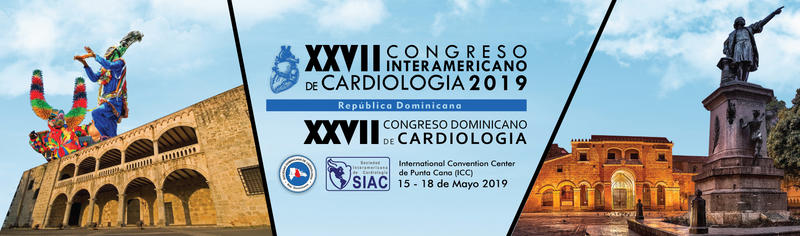 Banner do 27º Congresso Interamericano e Dominicano de Cardiologia de 2019 em Punta Cana