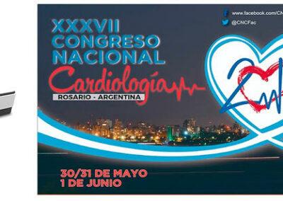 Banner do XXXVII Congresso Nacional de Cardiologia Rosário - Argentina